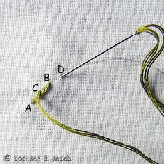 All the embroidery stitch tutorials one would ever need. For example, the stem…