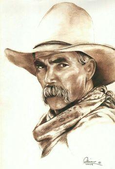 hand drawn Sam Elliott - 'The Olivas Collection' Portrait Au Crayon, Pencil Portrait, Celebrity Caricatures, Celebrity Drawings, Pencil Drawings, Art Drawings, Westerns, Katharine Ross, Cowboy Art