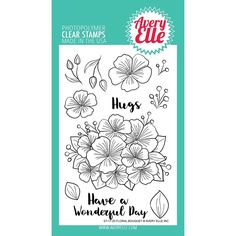 Avery Elle Clear Stamps, Floral Bouquet - 811568025332