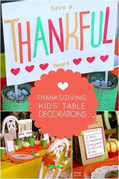 Unique Thanksgiving Kids' Table Decorations