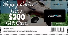 Hurry! Finish Line is giving away $200 gift cards for easter