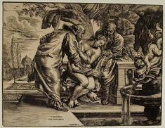 Christoffel Jegher after Rubens - Susannah and the Elders (17th c.); Woodcut on cream antique laid paper; Harvard Art Museums/Fogg Museum