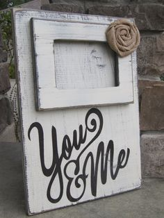 Repurposed Wood Sign and picture frame by BlessHerHeartDesigns