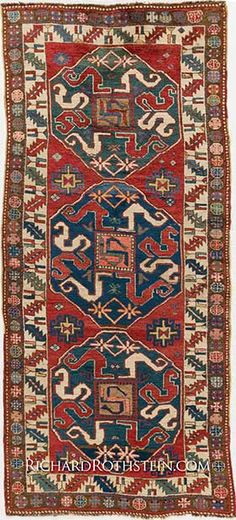 Antique Cloudband Kazak Size: x Weaving Textiles, Lace Print, Star Patterns, Modern Rugs, Handmade Rugs, Kilim Rugs, Vintage Rugs, Rugs On Carpet, Antiques
