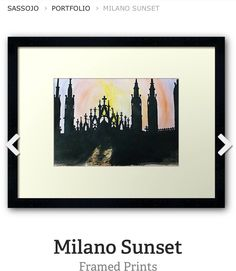 Framed print of Milano Sunset by SassoJo. Avail at www.redbubble.com/people/SassoJo