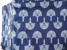 This is screen printed indigo cotton fabric. color: Blue and white Width : 44 inches To view more cotton fabrics go here