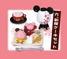 Mickey & Minnie Japanese Sweets - Item No.6 - Macaron & Cupcake / Miniature