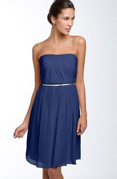 Can I see your rehearsal dresses? :  wedding  6363645 Donna Morgan Belted Chiffon Dress