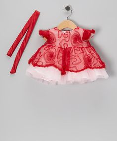 Take a look at this Red Swirl Dress - Infant by Sweet Pattis on #zulily today!