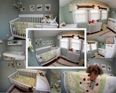 homemade gender neutral dachshund nursery