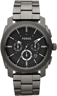 fossil chronograph watch in storm grey Herren Chronograph, Fossil Watches For Men, Swiss Army Watches, Cool Watches, Men's Watches, Patek Philippe, Rolex, Stainless Steel Watch, Men Accessories