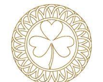 AUF Verkauf GOLDEN Circle Mandala 6 Maschine Stickerei Design 4 x 4 Reifen Redwork Instant Download