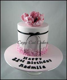 Pretty 21st birthday cake