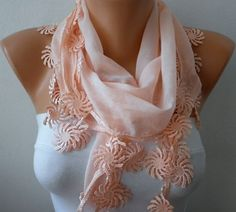 Salmon  Scarf   - by fatwoman, $15.00
