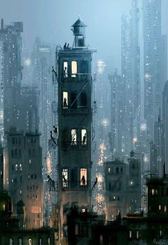To Everyone Else It's The Same Old Story - Open Art Print- To Everyone Else It's The Same Old Story – Open Art Print Open art print. Art print by Pascal Campion. x Epson Ultra Premium Paper. City Art, Samsung Wallpapers, Open Art, Ouvrages D'art, Art And Illustration, Oeuvre D'art, Pixel Art, Amazing Art, Fantasy Art