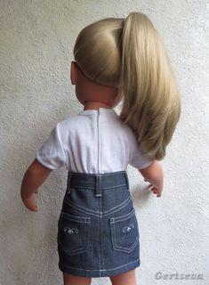 Мастер-класс по пошиву джинсовой юбочки для куклы - http://babiki.ru/blog/master/43264.html