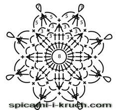 snowflake 363 schema 3, снежинка крючком схема 3