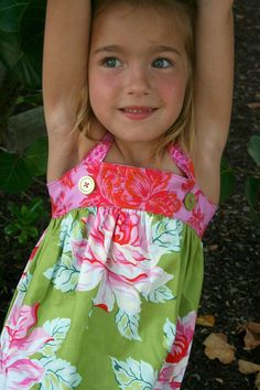 Girls Summer Sundress  Ready to Ship by sweetiepiedesign on Etsy, $40.00