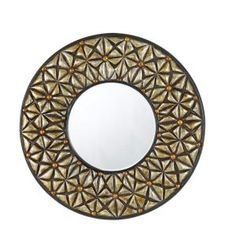 CAL Lighting 28 in. x 2 in. Slano Round Polyurethane Framed Mirror with Beveled Glass-WA-2159MIR at The Home Depot