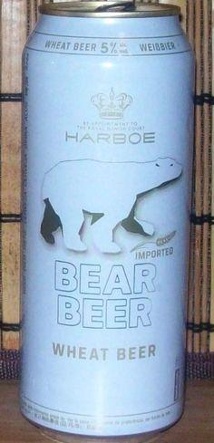 Cerveja Bear Beer Wheat Beer, estilo Witbier, produzida por Harboes Bryggeri, Dinamarca. 5% ABV de álcool.