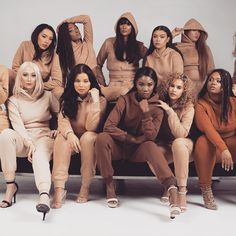 I know this supposed to be about beautiful diversity, but these black grls are SLAYin their fierce and chill poses waaaaay better then some of these other chics. Black Girl Magic, Black Girls, Pretty People, Beautiful People, 3d Foto, Nude Color, Colour, African Beauty, Beautiful Black Women