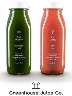 Packaging design love: Greenhouse Juice Co.