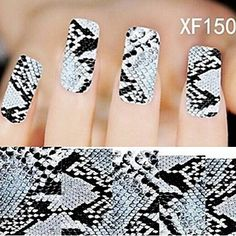 QINF 1X10PCS Full-cover Nail Art Stickers Leopard Print Series XF1508 >>> Want additional info? Click on the image.
