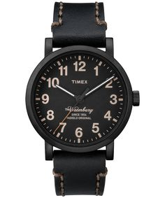 True style is timeless.  To celebrate 160+ years as an iconic American watch brand, we've released this timeless classic.  The meticulously stitched leather band, ageless design, and solid steel construction honors our heritage of pure craftsmanship and authentic watchmaking. Timex