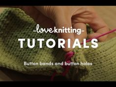 Button bands and button holes | LoveKnitting