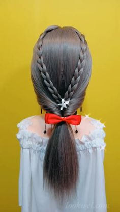 Creating a Simple Half-Up And 25 Hairstyle Idea Tutoriales de peinados Low Ponytail Hairstyles, French Braid Hairstyles, Weave Hairstyles, Pretty Hairstyles, Girl Hairstyles, Box Braids Pictures, Hair Shows, Hair Videos, Hair Trends