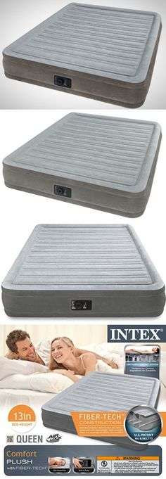 inflatable mattresses airbeds intex inflatable airbed queen size built in electric pump air mattress