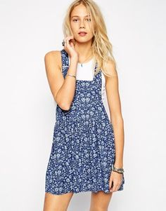 Pepe Jeans Floral Overall Dress