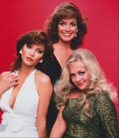 """Large promo shot of the lovely ladies of mega-soap """"Dallas"""" posing in gorgeous formalwear. Victoria Principal, Linda Gray and Charlene Tilton :-) Spin, Charlene Tilton, 80s Actresses, Dallas Tv Show, Victoria Principal, Linda Gray, Texas, Classic Tv, Celebs"""