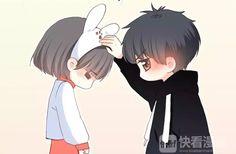 Eb Piggy Love Cartoon Couple, Chibi Couple, Cute Couple Art, Anime Love Couple, Chibi Anime, Kawaii Chibi, Cute Chibi, Manga Anime, Cute Cartoon Drawings