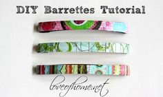 DIY Barrettes Tutorial, Quick & cute gift for girls! Love of Home.
