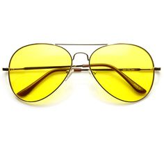 c871fd53b1a Retro Large Metal Aviator Sunglasses With Yellow Driving Lens 9461 ( 9.99)  ❤ liked on