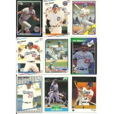 HUGE 50 + Different KIRK GIBSON cards lot 1982 - 2013 Tigers Dodgers Royals