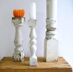Architectural Salvage Wood Candle Holder / by BirdinHandVTG