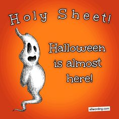 Holy sheet! Halloween is almost here! #ghostpuns