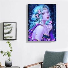 Buy Diamond Painting Embroidery Kits - Full Drill Choose from thousands of DIY Diamond Art Kits or make your own Paint With Diamonds - Diabroidery Diamond Drawing, 5d Diamond Painting, Diamond Art, Diy Canvas, Canvas Frame, Cartoon Butterfly, Activity Room, Diy Painting, Mosaic