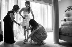 An Elegant Art Affair Real Wedding | Bride Getting ready| Genevieve Nisly Photography | Real Wedding as seen on RealWeddings.TodaysBride.com