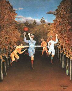 Los jugadores de fútbol por el pintor francés Rousseau.