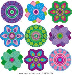 Fantasy Flower Vector Stock Photos, Images, & Pictures | Shutterstock