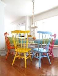 multicolored metal chairs - Google Search