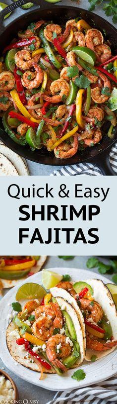 Shrimp Fajitas {Easy 25 Minute Recipe} - Cooking Classy