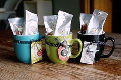 Coffee Mug - Coffee gift ideas.  Love her gift tags