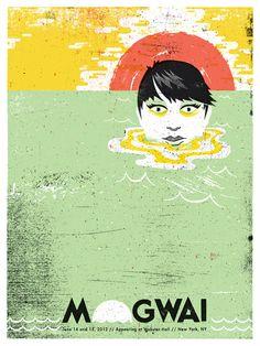 Mogwai gig poster by Doe Eyed