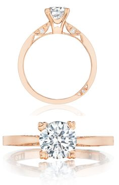 Rose gold and diamond engagement ring from Tacori's Pretty in Pink Collection. (Style # 2584RD65PK).