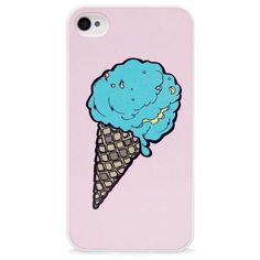 BlissfulCASE IPhone 4 Ice Cream Cone Illustration Case ($20) ❤ liked on Polyvore featuring accessories, tech accessories, phone cases, phone, iphone and cases