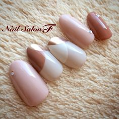 Opting for bright colours or intricate nail art isn't a must anymore. This year, nude nail designs are becoming a trend. Here are some nude nail designs. Elegant Nail Designs, Elegant Nails, Beautiful Nail Designs, Cute Nail Designs, Stylish Nails, Trendy Nails, Fancy Nails, Pink Nails, Love Nails